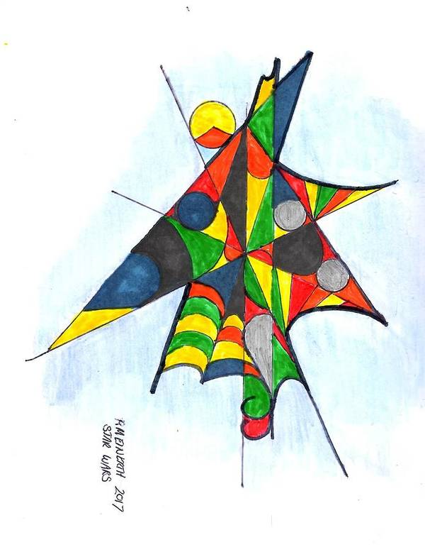Drawings By Paul Meinerth. Abstract Art. Abstract Images Art Print featuring the drawing Star Wars2 by Paul Meinerth