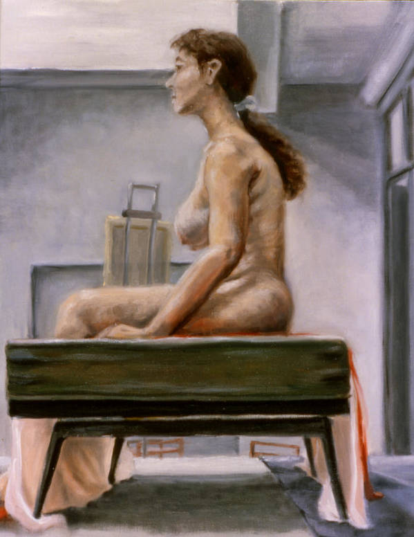 Woman Art Print featuring the painting Still by John Clum