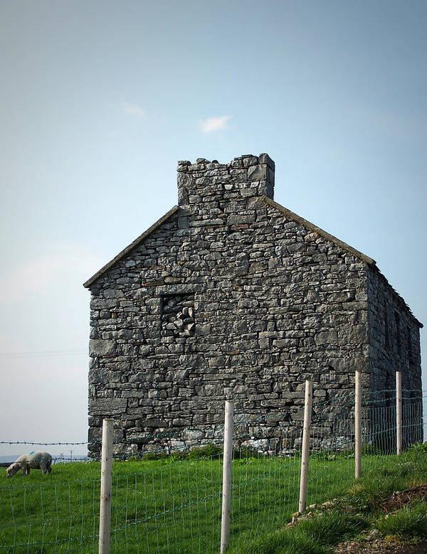 Irish Art Print featuring the photograph Stone Building Maam Ireland by Teresa Mucha