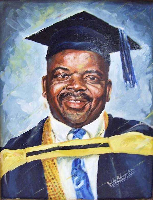 Portrait Art Print featuring the painting Success by Wale Adeoye