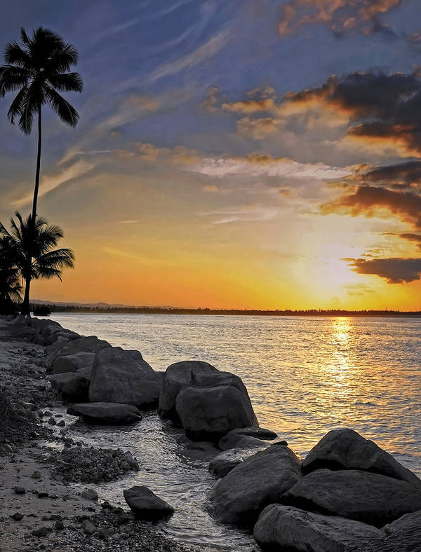 Caribbean Art Print featuring the photograph Sunset Caribe by Stephen Anderson