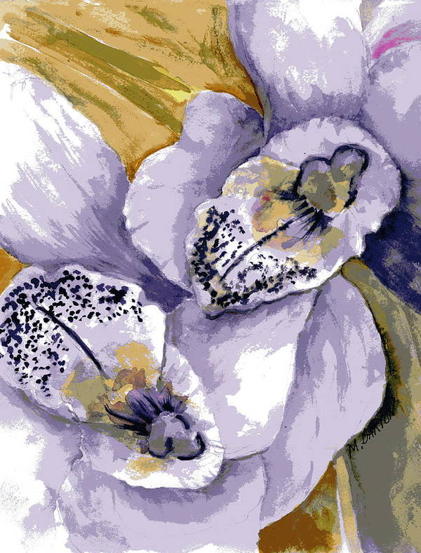 Flower Art Print featuring the painting Sweet Orchids by Marilyn Barton