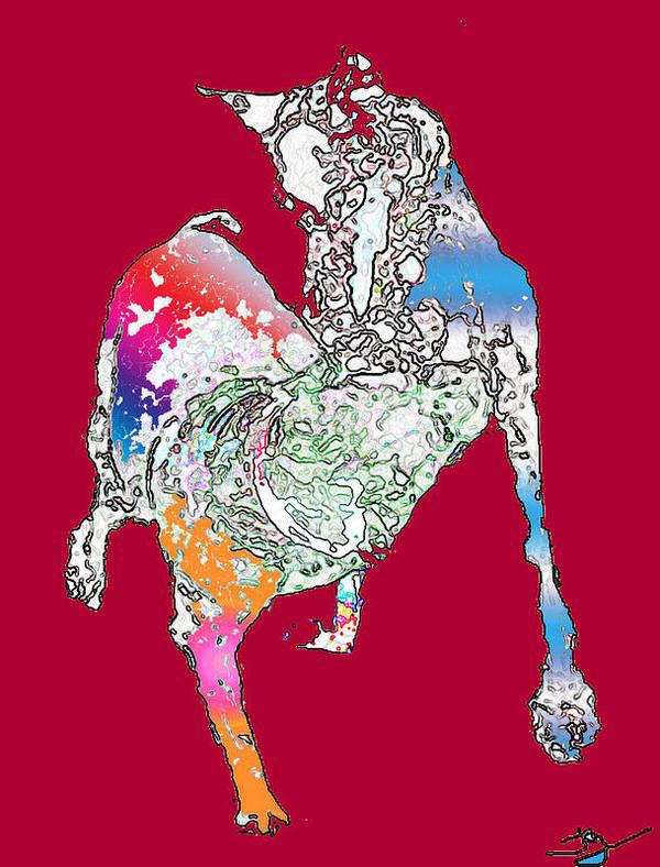 Digital Art Print featuring the digital art The Dance by Joyce Goldin