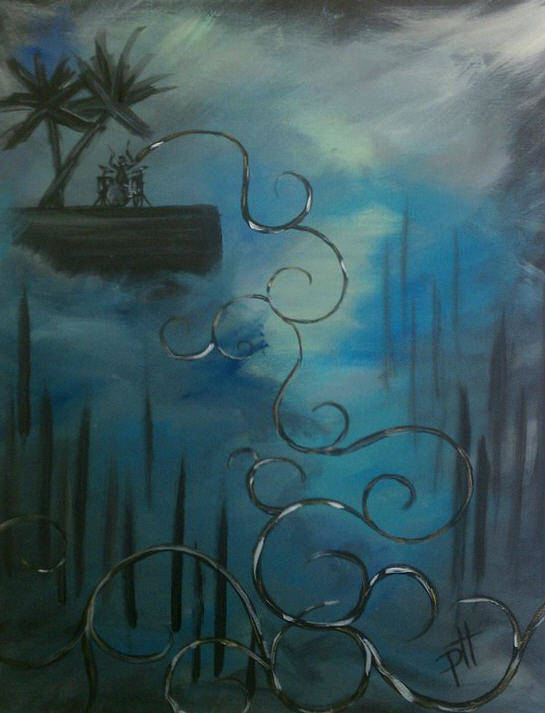 Dream Art Print featuring the painting The Dream by Patti Spires Hamilton