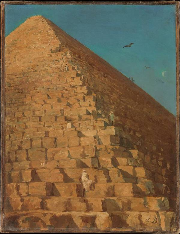 The Great Pyramid Art Print featuring the painting The Great Pyramid by Eastern Accent