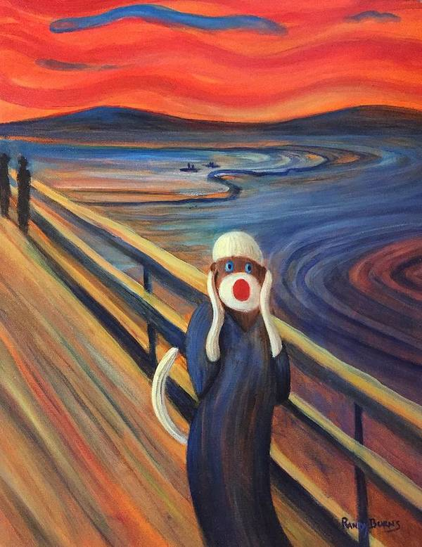 The Scream Art Print featuring the painting The Holler by Randy Burns