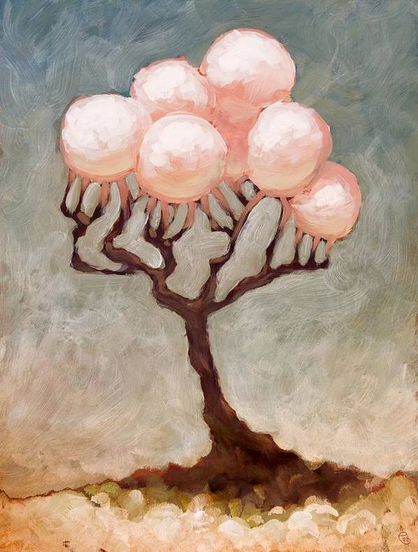 Trees Art Print featuring the painting The Luster In The Sun by Ethan Harris