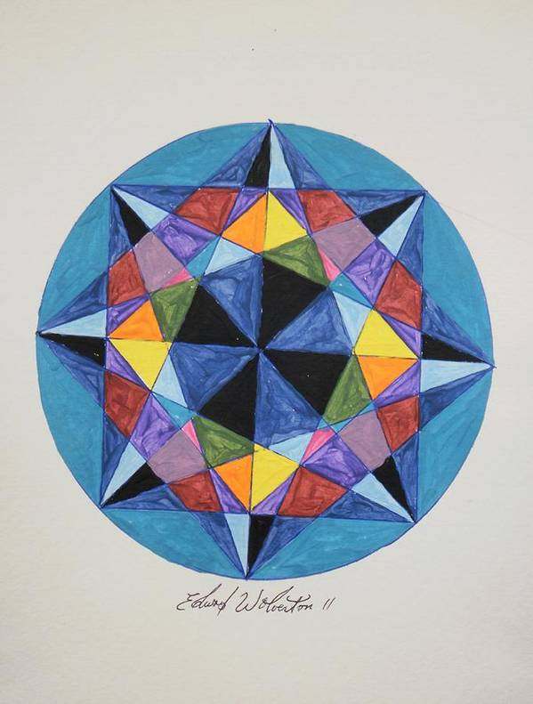 Wheel Art Print featuring the painting The Midnight Sun by Edward Wolverton