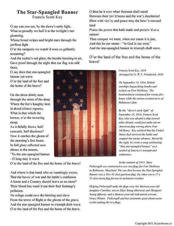 American Art Print featuring the photograph The Star-spangled Banner by Jacob Cane