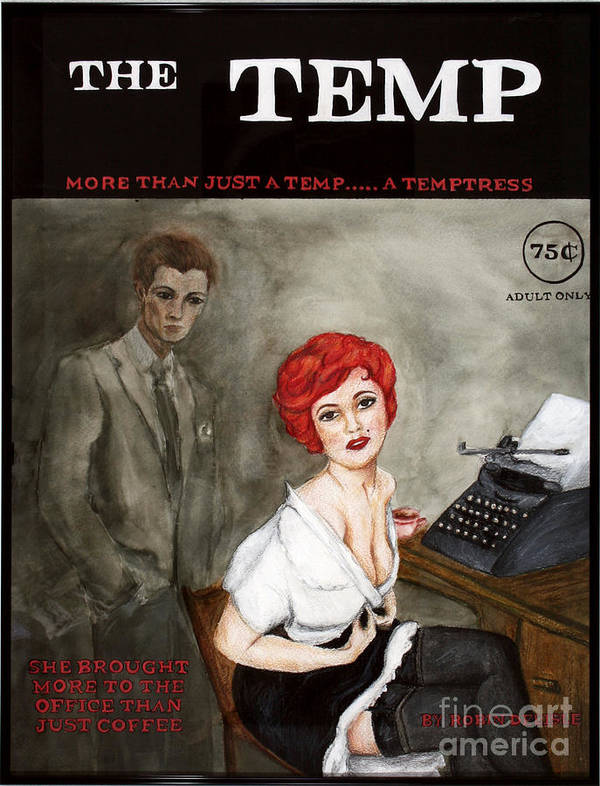 Pin-up Art Print featuring the painting The Temp by Robin DeLisle