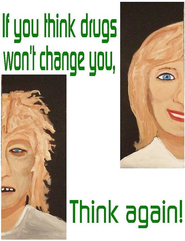 Healing Art Print featuring the painting Think Again by Laurie Homan