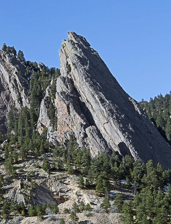 Front Art Print featuring the photograph Third Flatiron In Boulder Colorado by Brendan Reals