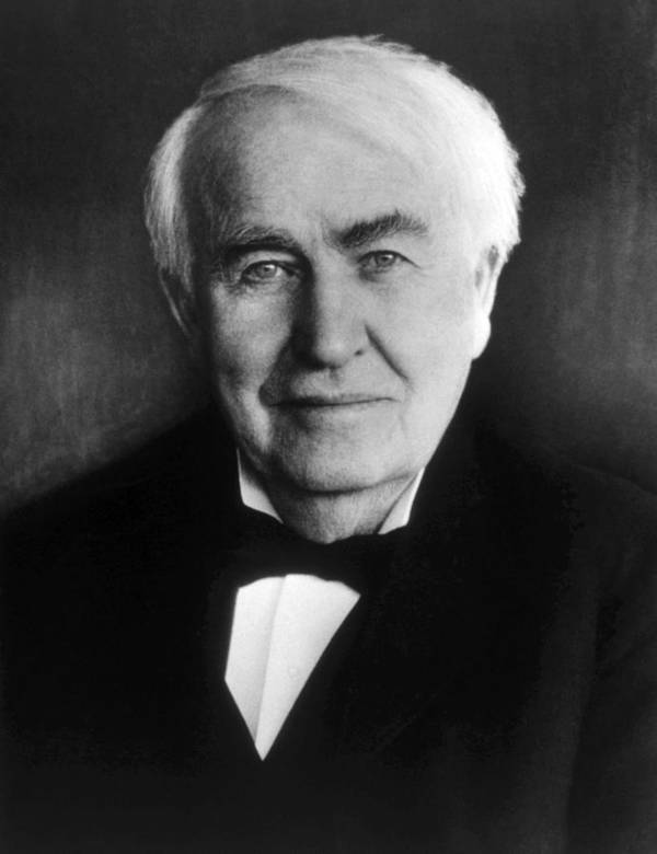 Edison Print featuring the photograph Thomas Alva Edison 1847-1931 by Everett