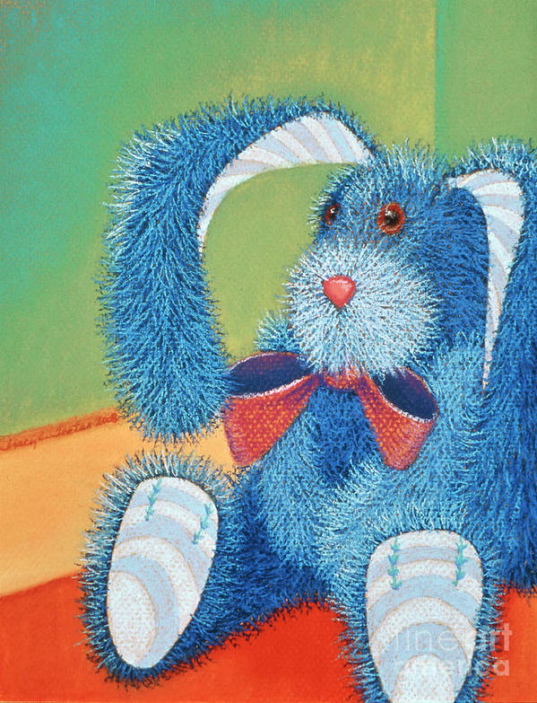 Rabbit Art Print featuring the pastel Time Out by Tracy L Teeter