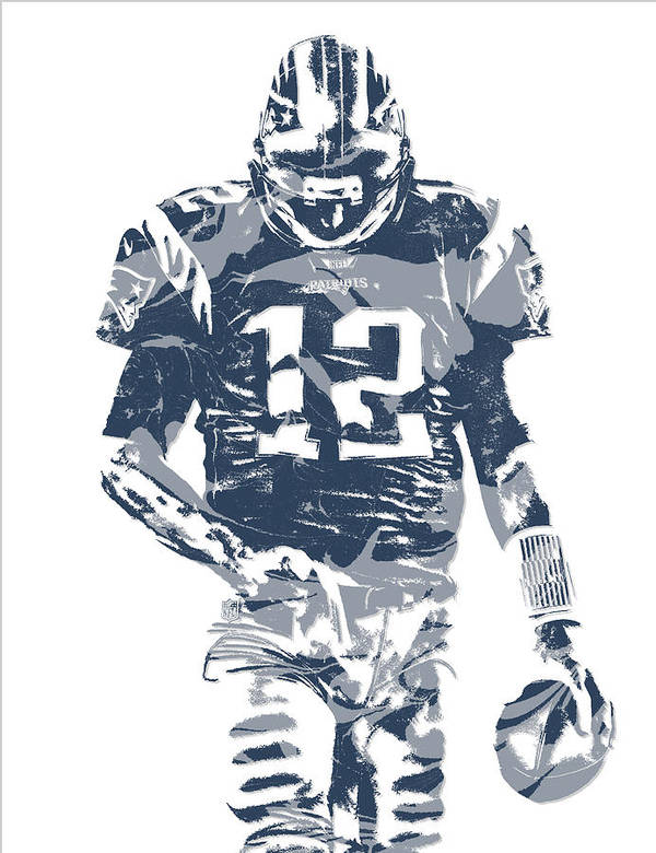 tom brady jersey drawing