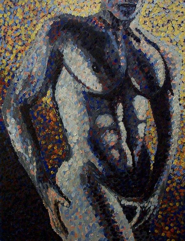 Art Print featuring the painting Torso by Mats Eriksson