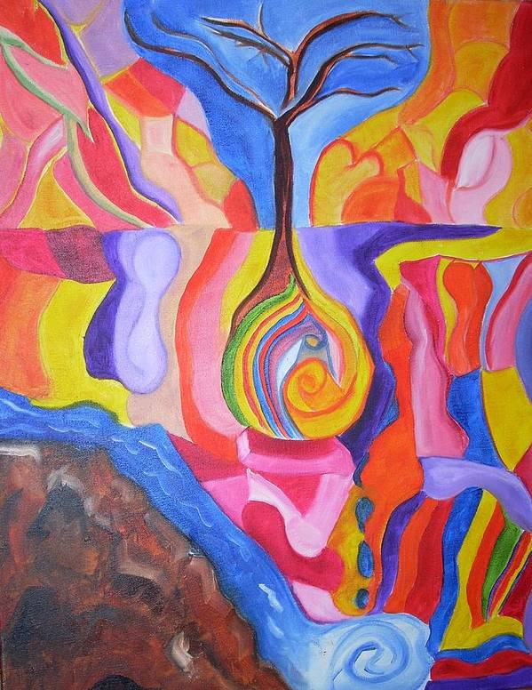 Art Print featuring the painting Tree Of Color by Joseph Arico