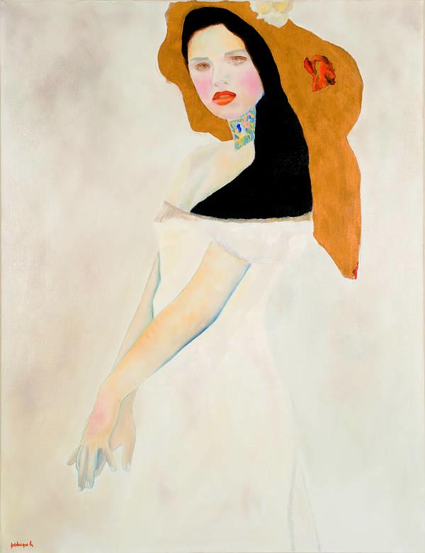 Portrait Art Print featuring the painting Viennoiseries by Krzis-Lorent Frederique