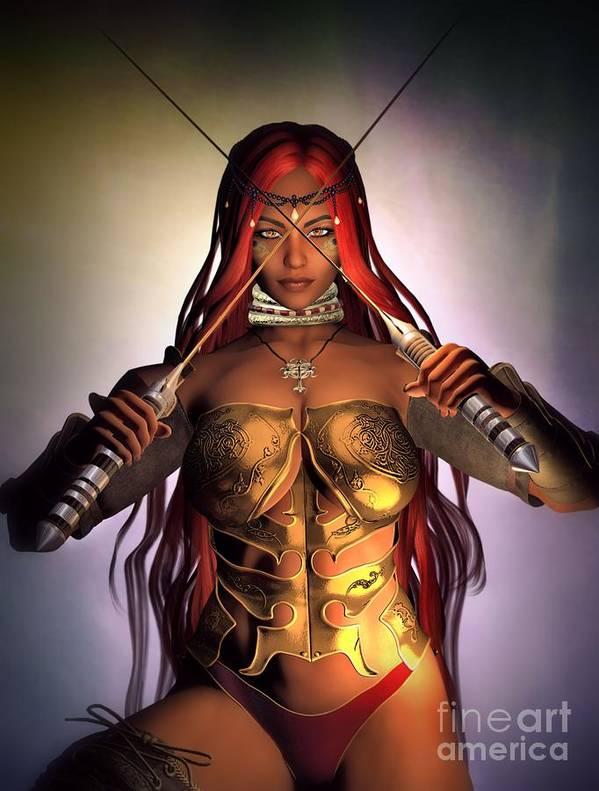 Warrior Priestess Art Print