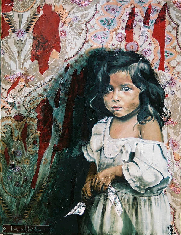 Asian Girl Art Print featuring the painting What Is My Worth by Teresa Carter