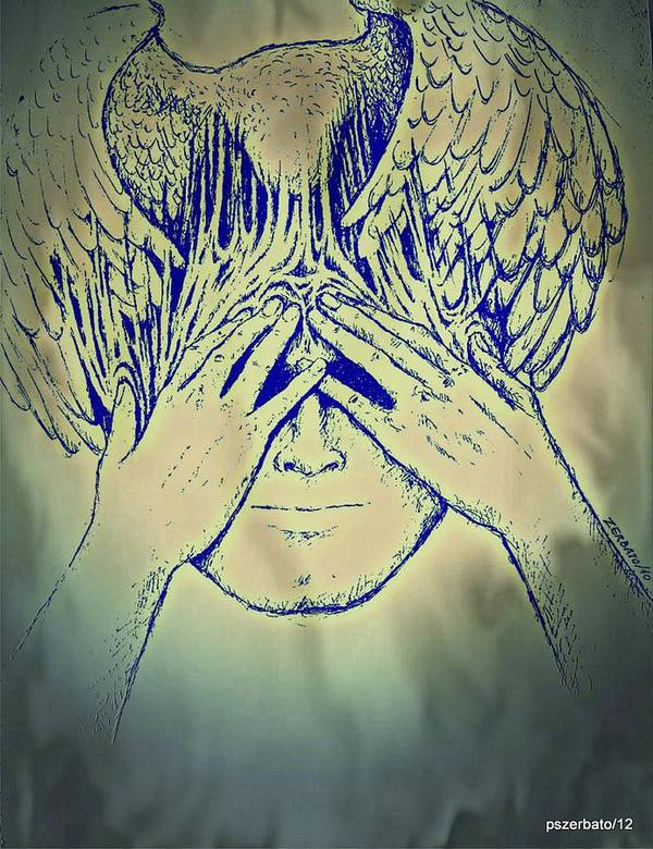 Meditation Art Print featuring the digital art Wings To The Thoughts by Paulo Zerbato