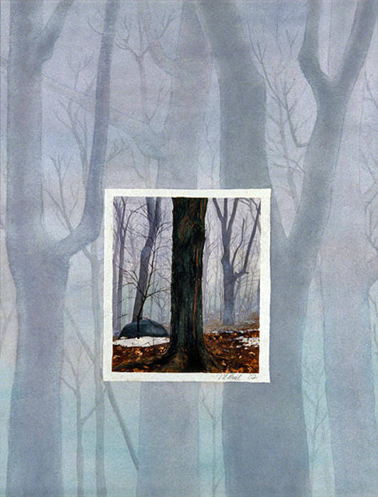 Winter Art Print featuring the painting Winter by Nancy Ethiel