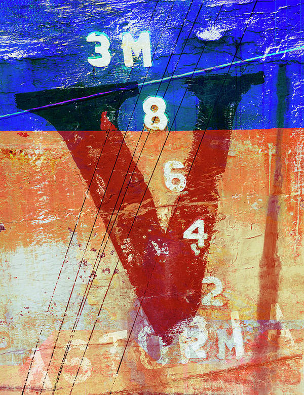 Letter Art Print featuring the mixed media Fishing Vessel Vivian Astoria Oregon by Carol Leigh