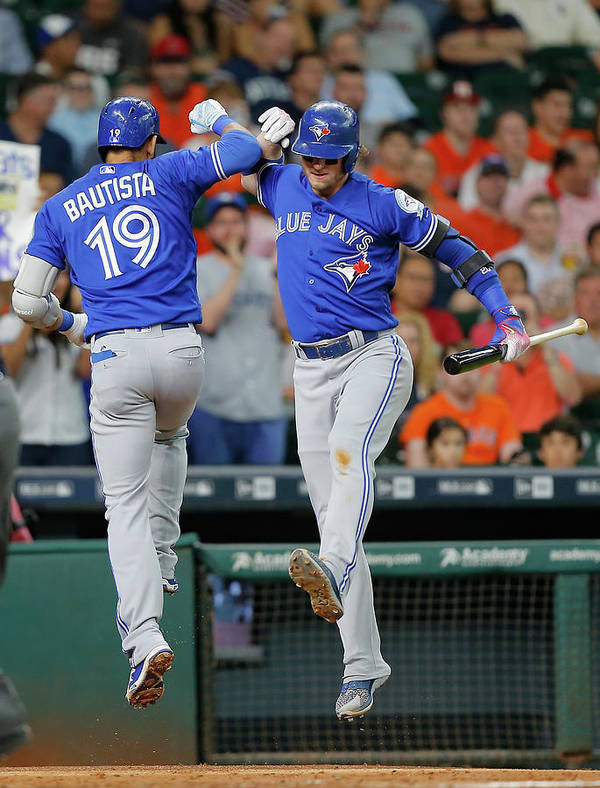 People Art Print featuring the photograph Toronto Blue Jays V Houston Astros 2 by Bob Levey