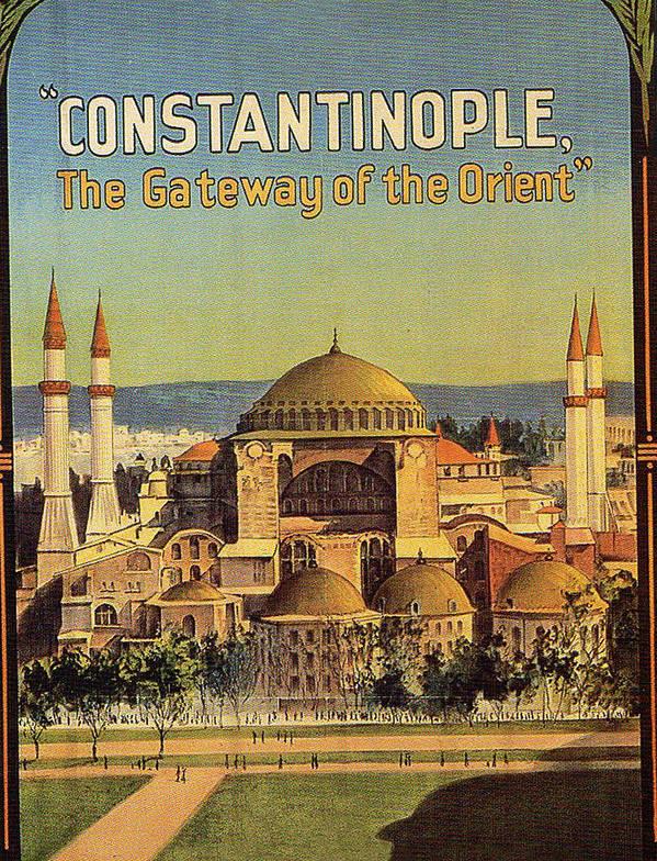 Hagia Sophia Art Print featuring the digital art Constantinople by Long Shot