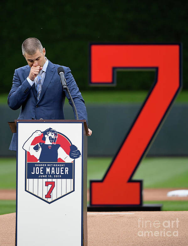 Joe Mauer Art Print featuring the photograph Joe Mauer by Hannah Foslien