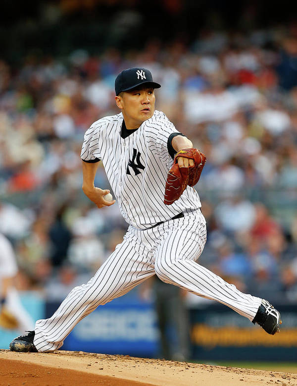 American League Baseball Art Print featuring the photograph Masahiro Tanaka by Rich Schultz