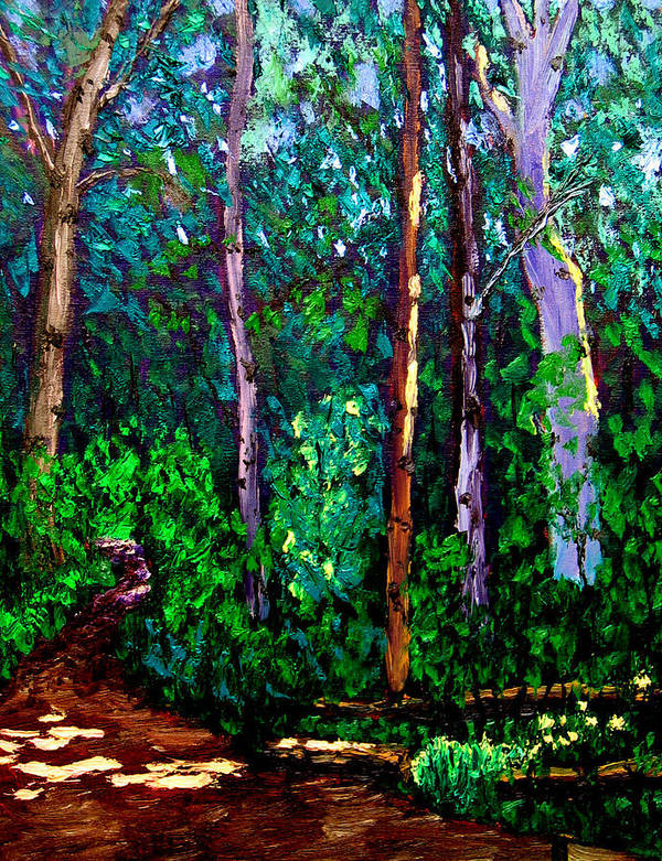 Woods Art Print featuring the painting Sewp 6 15 by Stan Hamilton