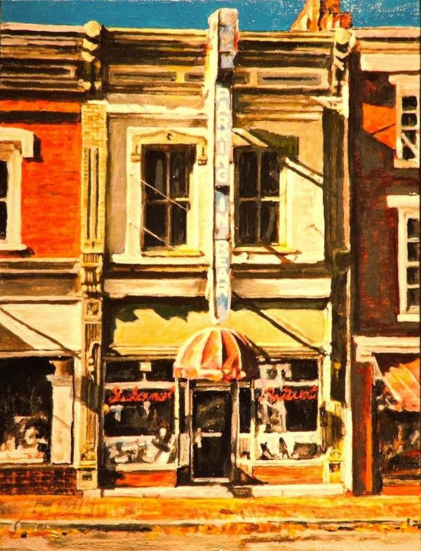 City Scene Art Print featuring the painting Restaurant II by Thomas Akers