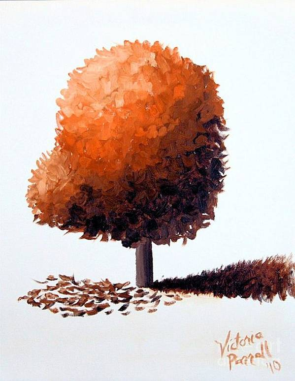 Tree Art Print featuring the painting # 39 by Victoria Parrell