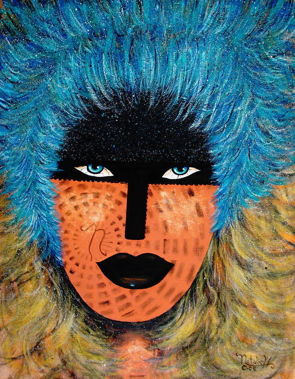 Woman Art Print featuring the painting Viva Niva by Natalie Holland
