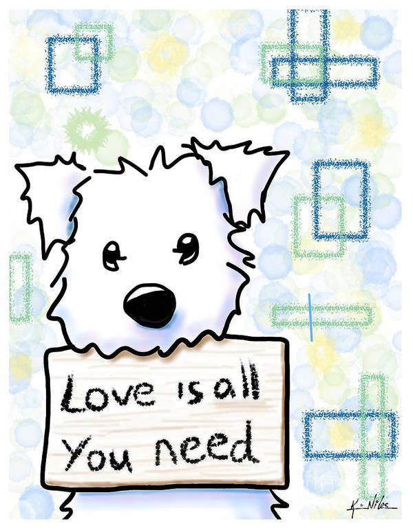 Ipad Painting Print featuring the drawing Love Is All You Need by Kim Niles