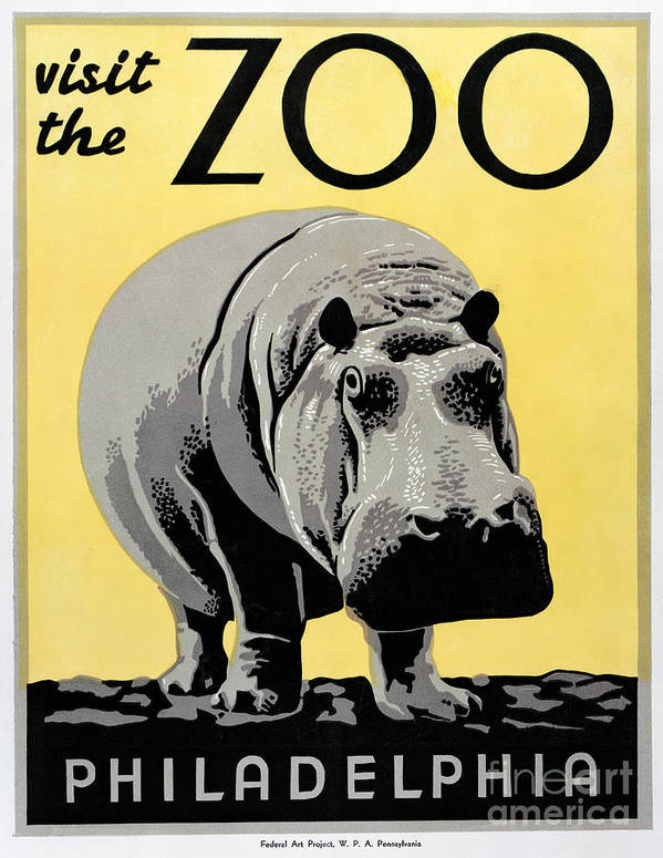 1938 Art Print featuring the photograph Zoo Poster C1936 by Granger