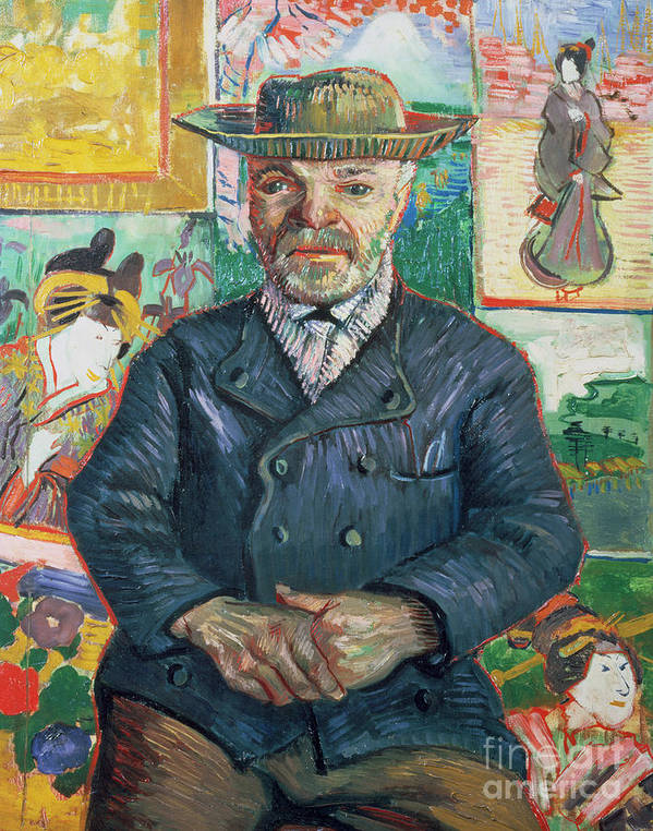 Male Art Print featuring the painting Pere Tanguy by Vincent van Gogh