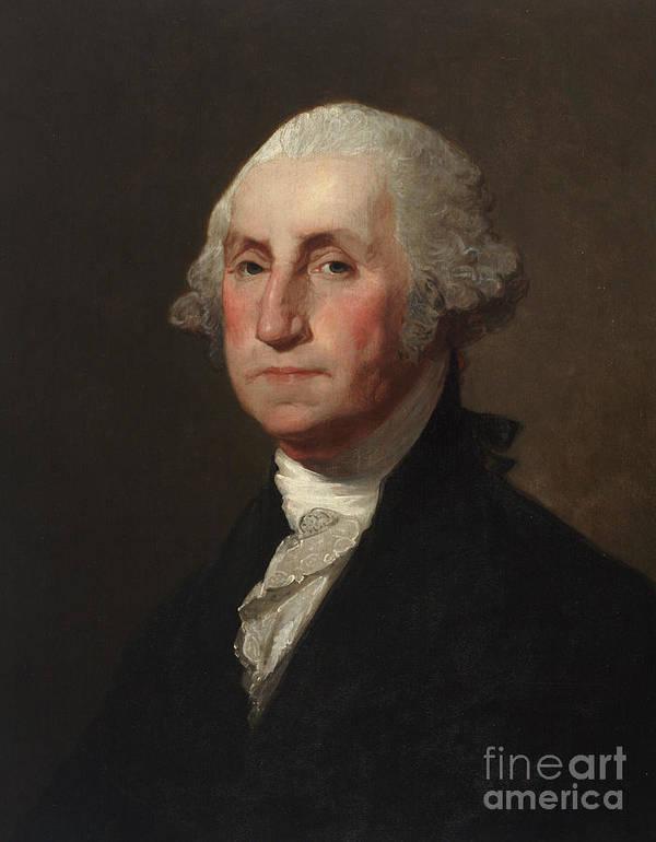 George Washington Art Print By Gilbert Stuart