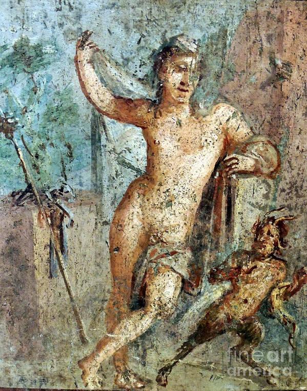 Naples Italypompeii Art Print featuring the photograph Naples Archeological Museum Roman Art by Paul Sandilands