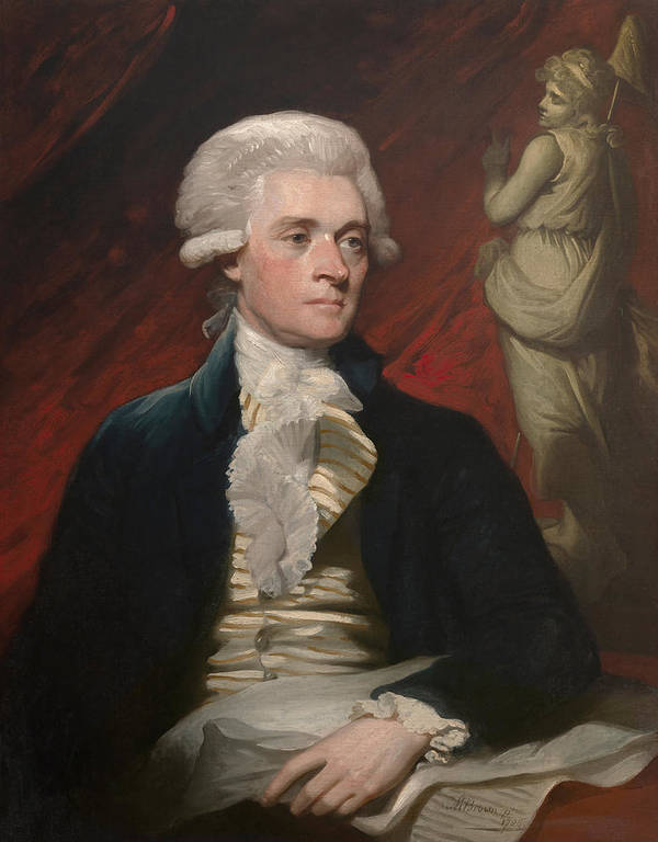 Thomas Jefferson Print featuring the painting Thomas Jefferson by War Is Hell Store