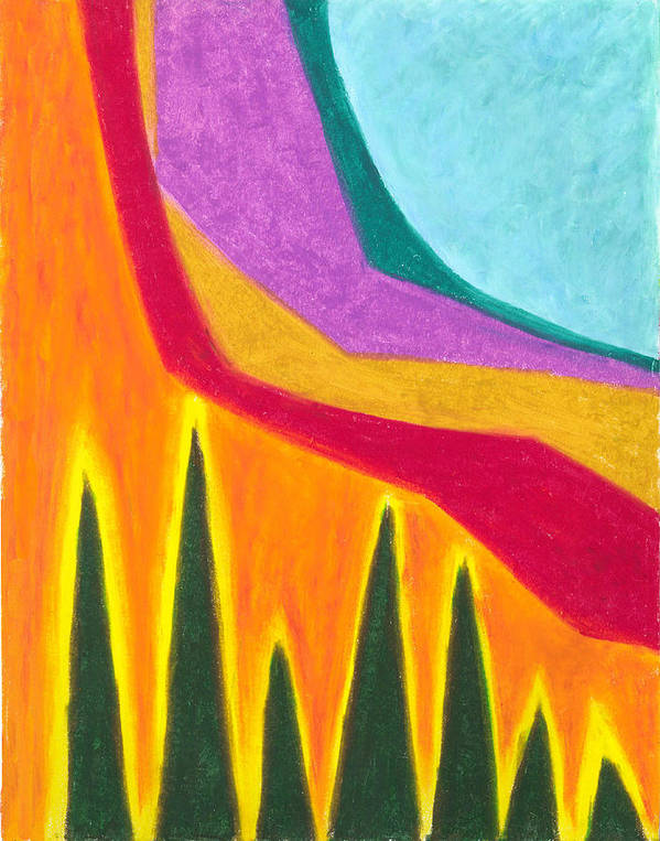 Abstract Art Print featuring the painting A Calming Influence by Carrie MaKenna