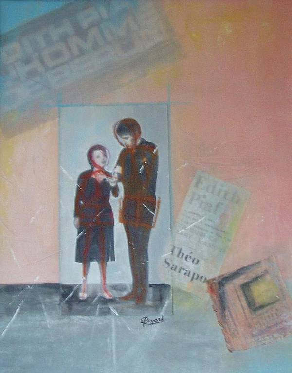 Edith Piaf Art Print featuring the mixed media A Cuoi Ca Sert L'mour Or What Else Is There But Love by Elizabeth Bogard