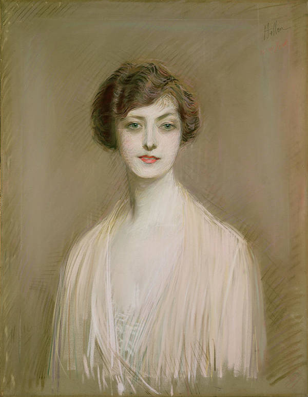 Portrait Art Print featuring the painting An American by Paul Cesar Helleu