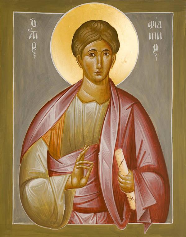 Apostle Philip Art Print featuring the painting Apostle Philip by Julia Bridget Hayes