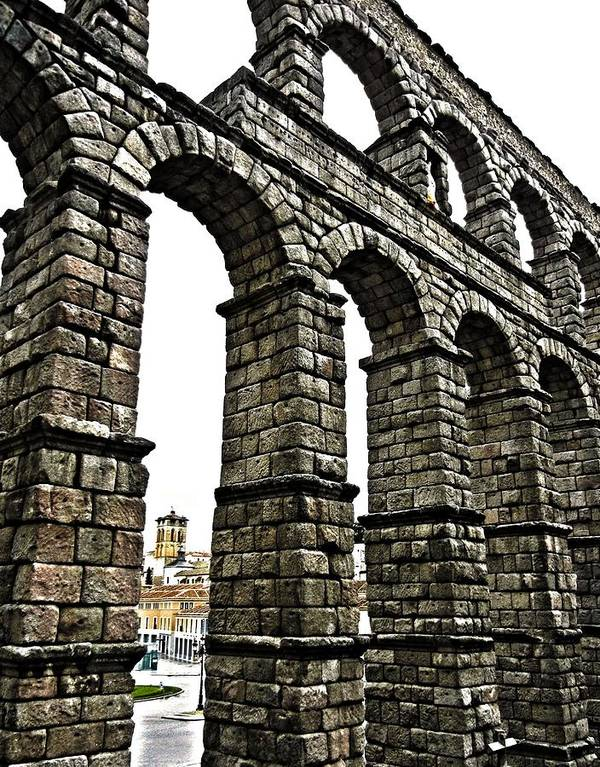 Europe Print featuring the photograph Aqueduct Of Segovia - Spain by Juergen Weiss