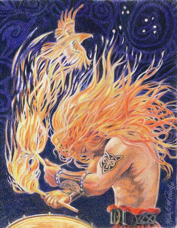 Aries Art Print featuring the painting Aries by Michelle Powell