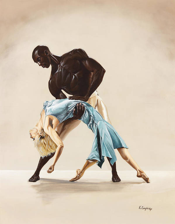 Ballet Art Print featuring the painting Ballet 1 by Karen Loughridge KLArt