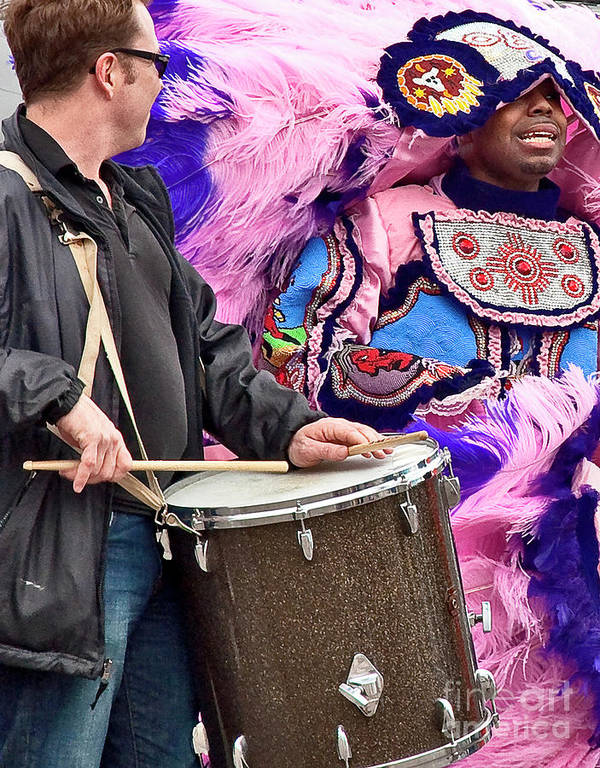 Mardi Art Print featuring the photograph Beads And Feathers At Mardi Gras by Kathleen K Parker