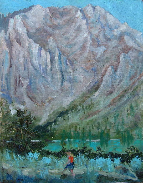 Landscape Art Print featuring the painting Bear Bait by Bryan Alexander